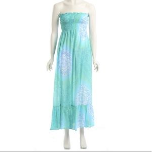 Cool Change Turquoise Strapless Dress Size S/M